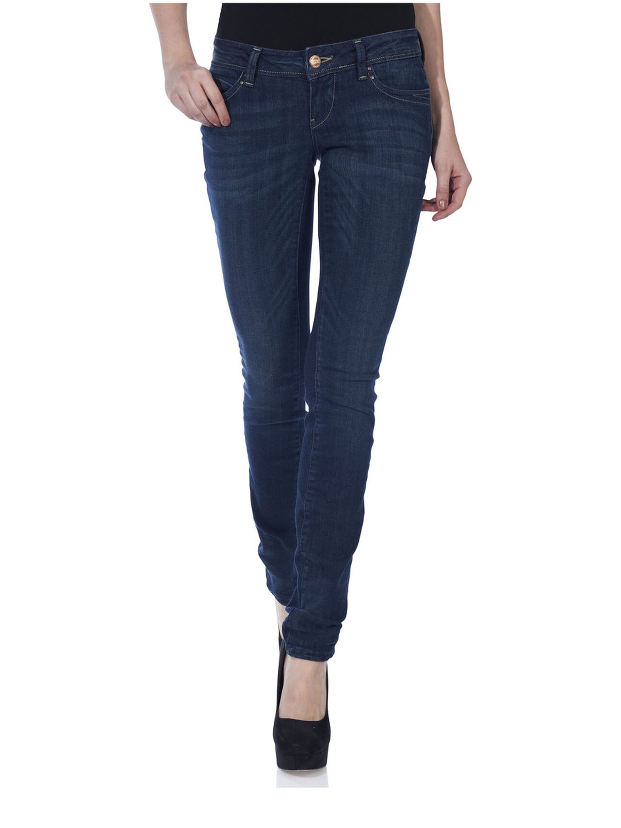 caa562f02a512 Skinny superlow coral jeans