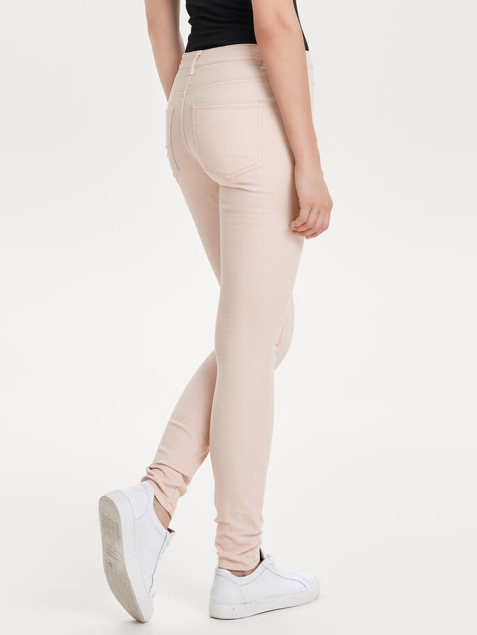 STRETCHY SLIM FIT JEANS, Peach Whip, large