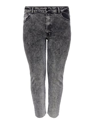 CURVY CARRICA LIFE REG ANKLE RAW STRAIGHT FIT JEANS