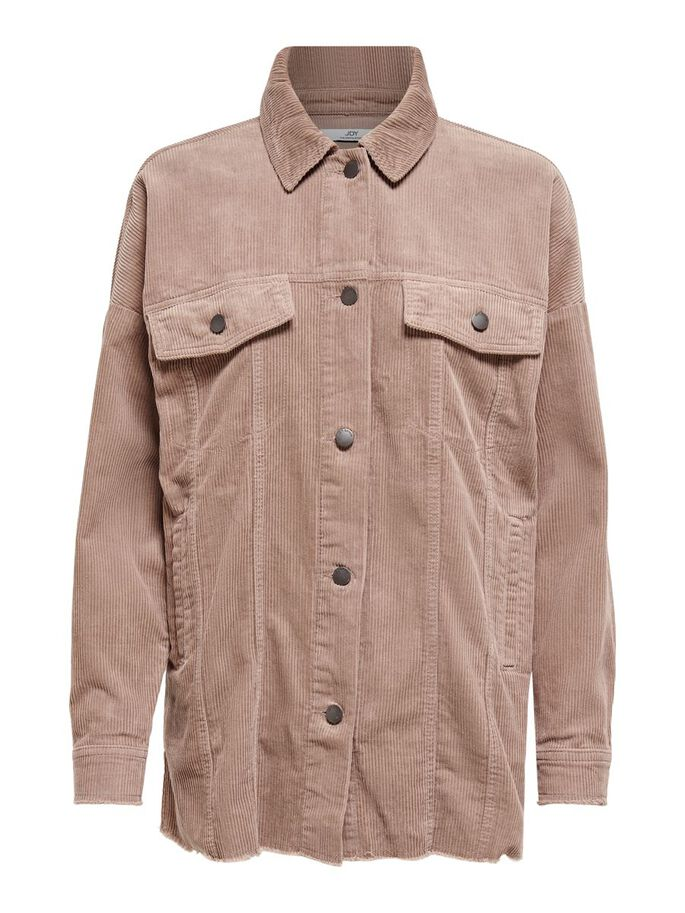 CORDUROY SHIRT, Brownie, large