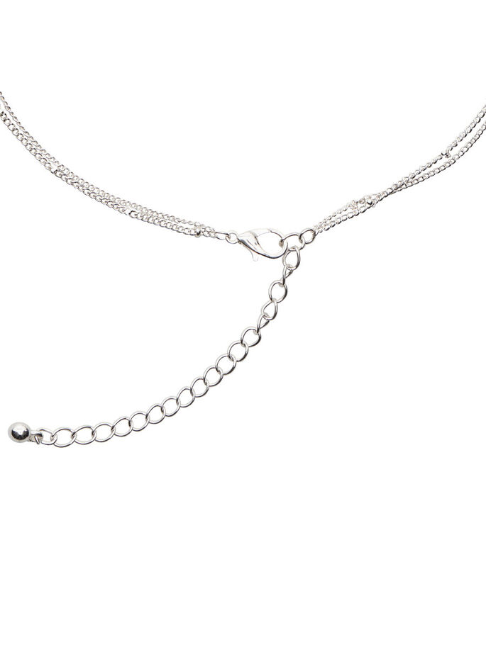 TWO-CHAIN NECKLACE, Silver Colour, large