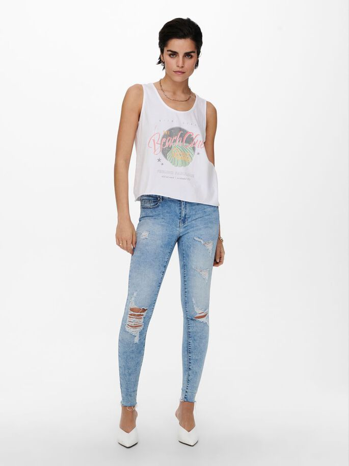 FRONT PRINT TANK TOP, Bright White, large