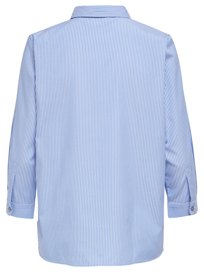 BRODERET SKJORTE MED 3/4-ÆRMER, Light Blue, large