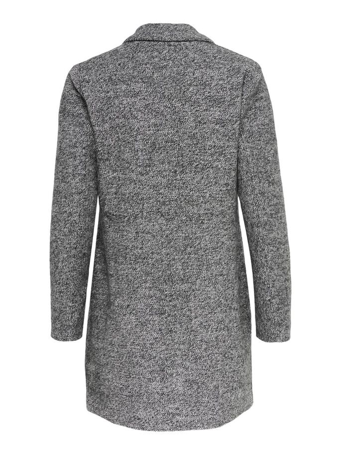 LONG COAT, Medium Grey Melange, large