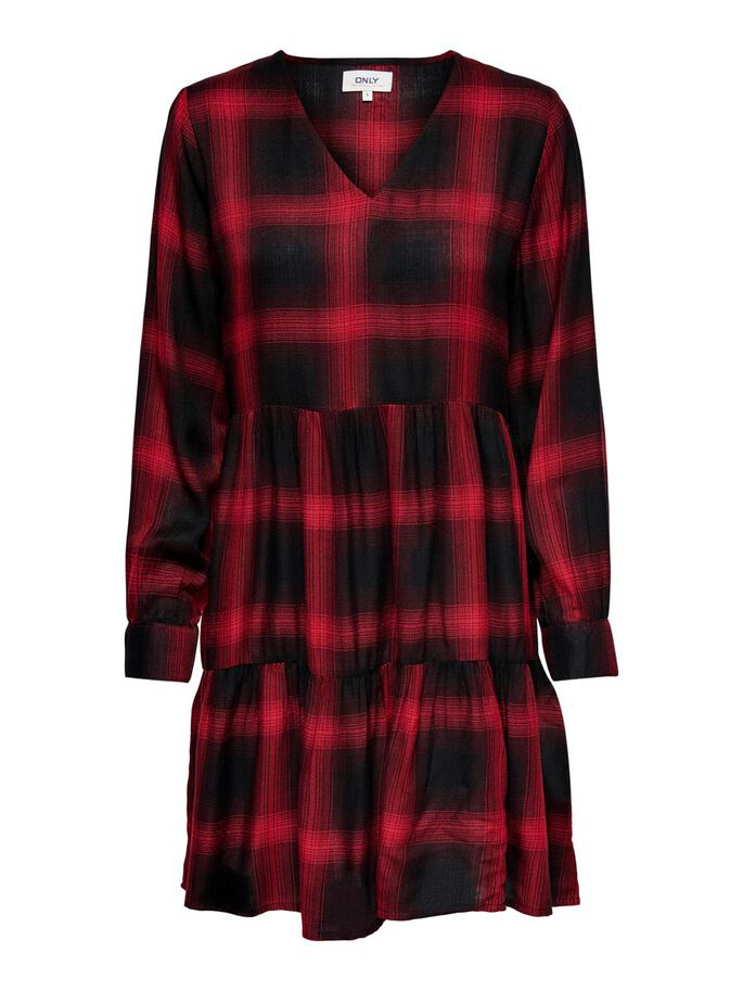 CHECKED DRESS, Red Ochre, large