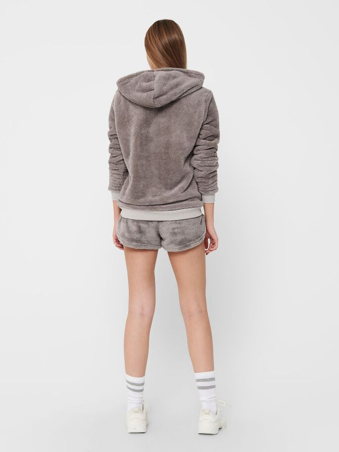 HOODIE & SHORTS, Dark Grey, large