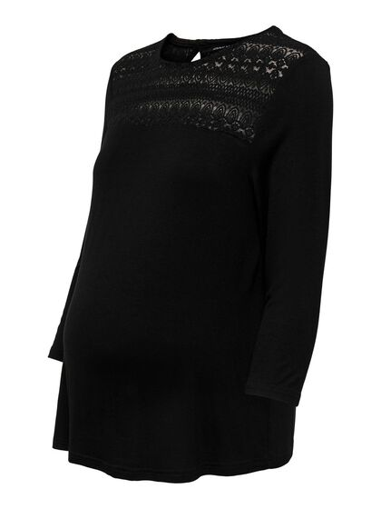 MAMA LACE DETAIL 3/4 SLEEVED TOP