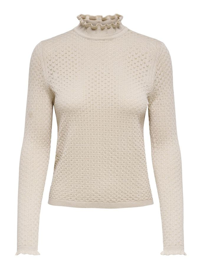 TEXTURE KNITTED PULLOVER, Pumice Stone, large