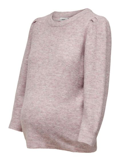 MAMA 3/4 SLEEVED KNITTED PULLOVER