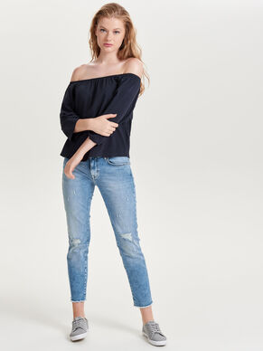 OFF-SHOULDER- OBERTEIL MIT 3/4-ÄRMELN