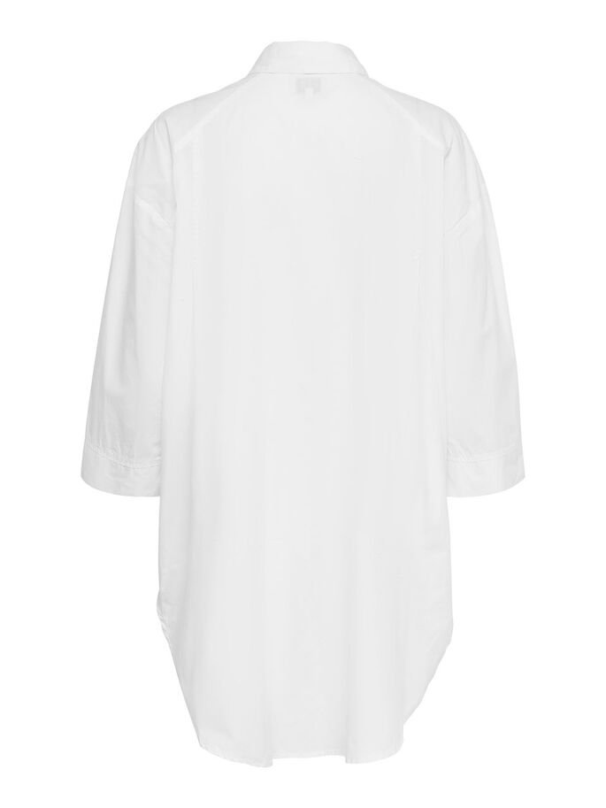 LOOSE FITTED SHIRT, White, large