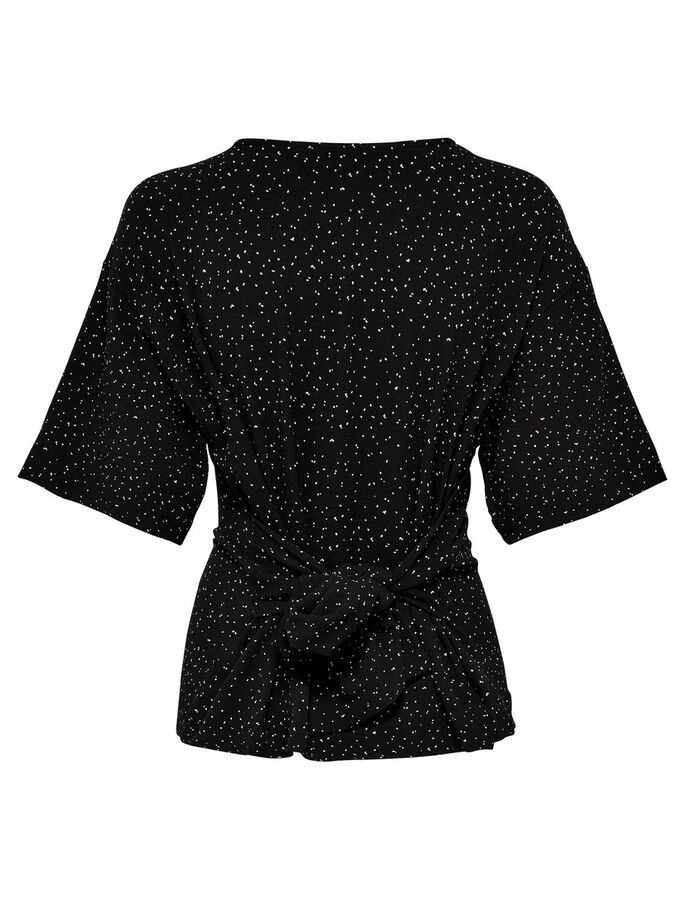 TIE DOWN 2/4 SLEEVED BLOUSE, Black, large