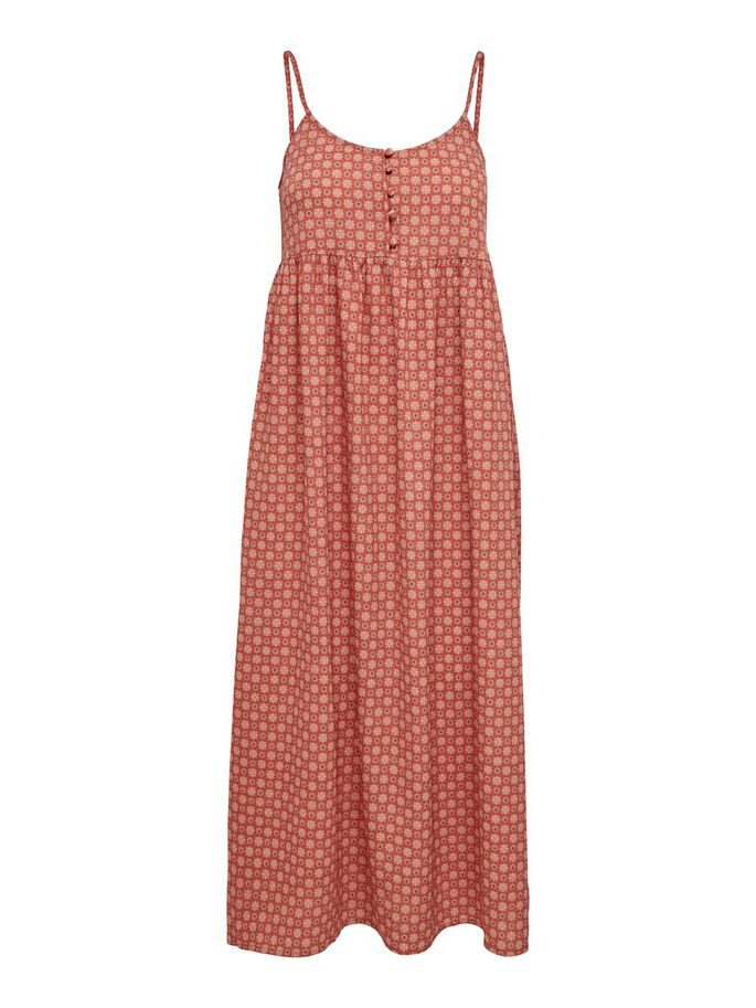 PRINTED MAXI DRESS, Hot Sauce, large