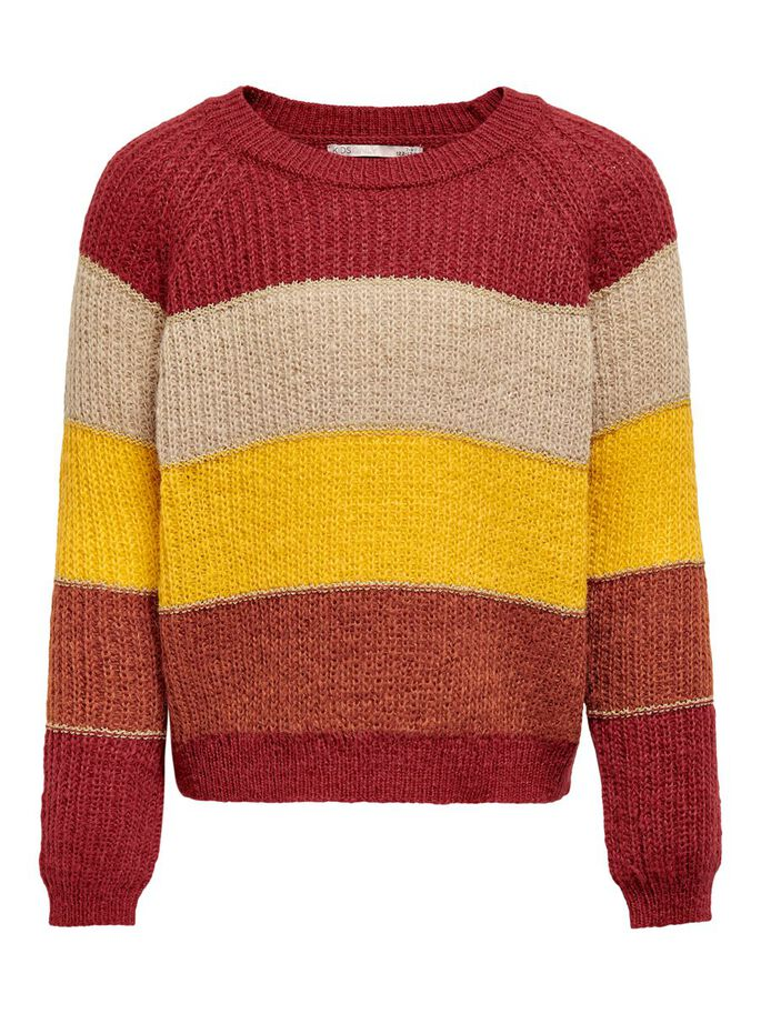 RAYURES PULL EN MAILLE, Sun-Dried Tomato, large