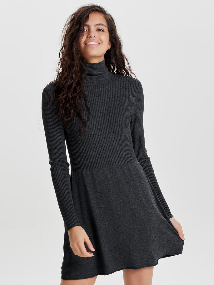 bb5fc4af55df Roll neck knitted dress | ONLY