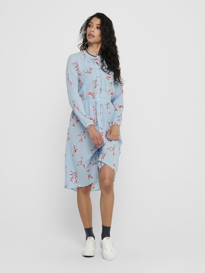 PRINTED DRESS, Cashmere Blue, large