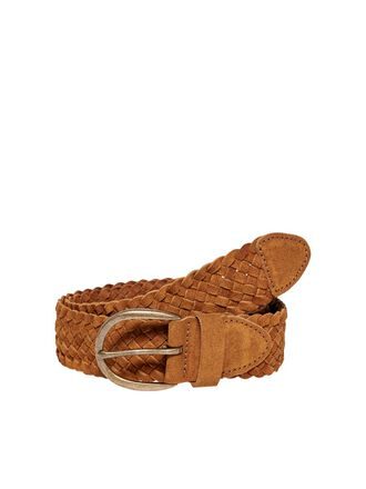 CURVY BRAIDED LEATHER BELT
