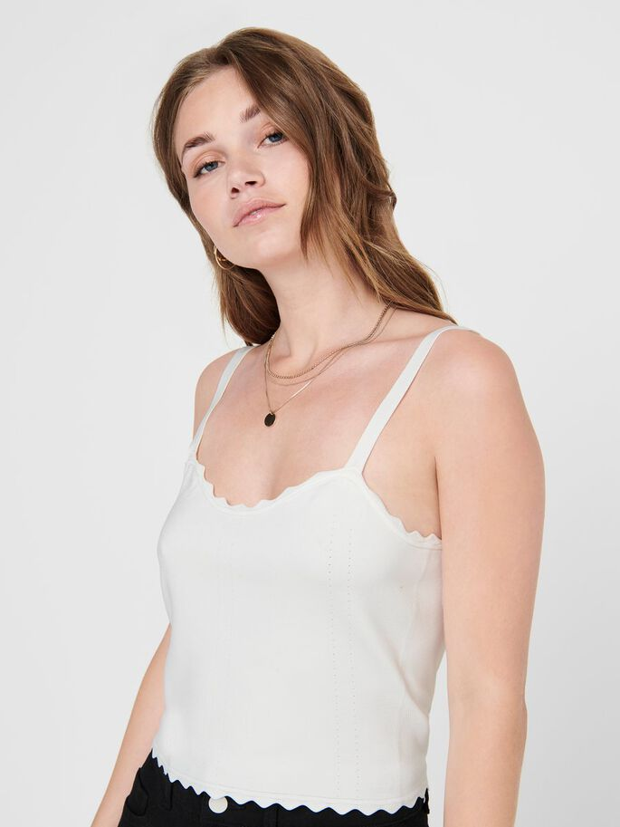 CROPPED CAMI, Cloud Dancer, large