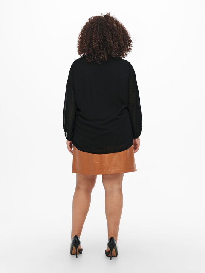 MANCHES 3/4 TOP, Black, large