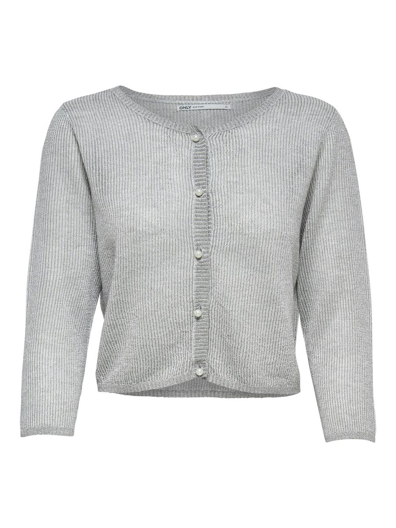 ONLY Short Knitted Bolero Women Grey