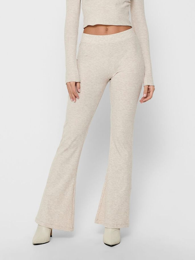 FLARED TROUSERS, Pumice Stone, large