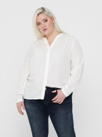 CURVY SOLID COLORED SHIRT
