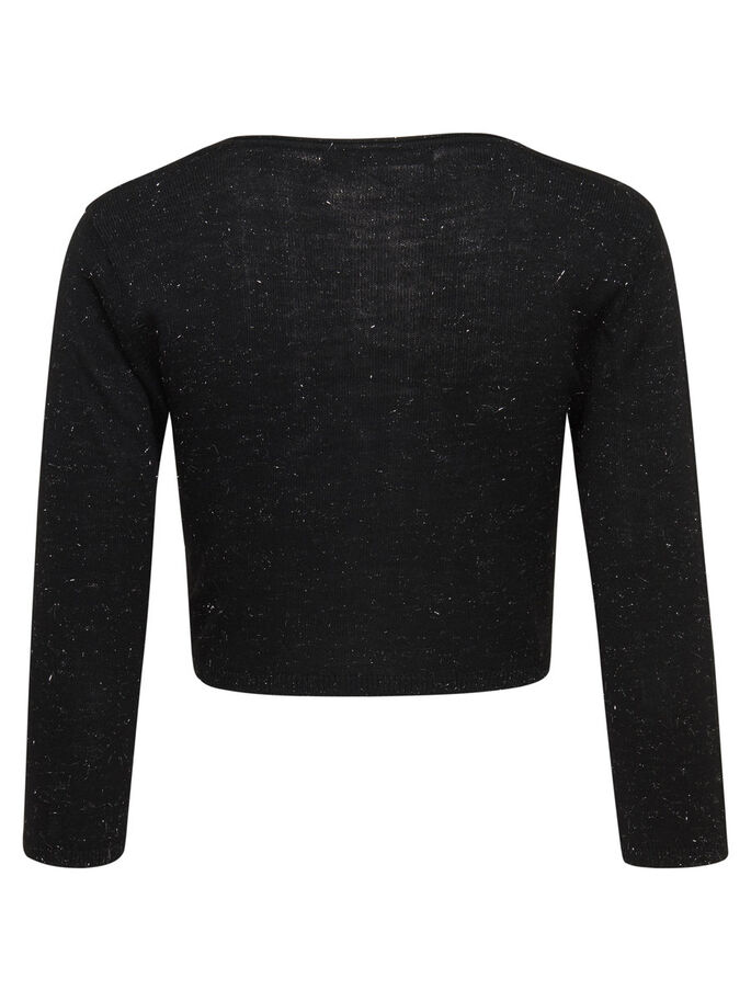 OFFENER STRICKBOLERO, Black, large