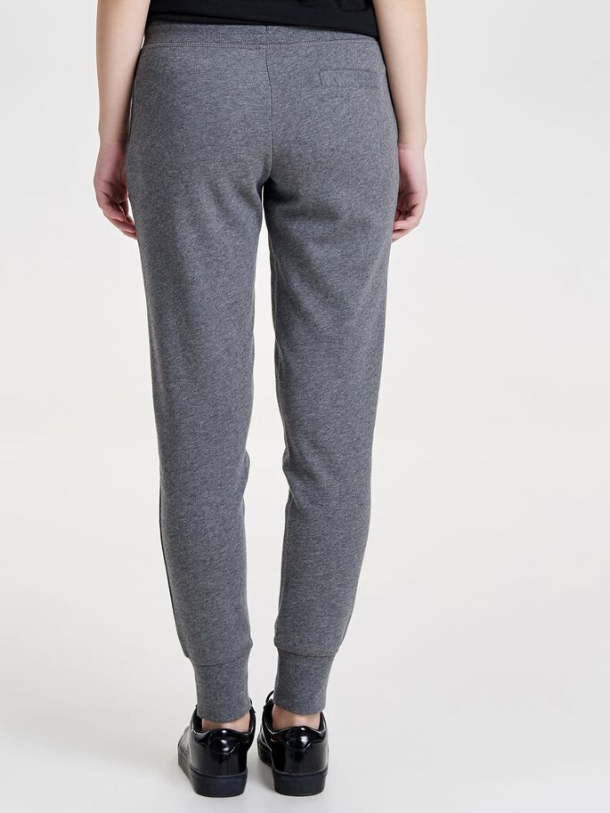SOLID SWEAT PANTS, Dark Grey Melange, large