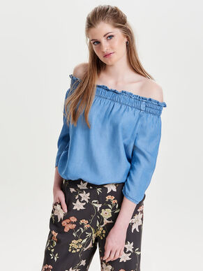 OFF-SHOULDER OBERTEIL MIT 3/4-ÄRMELN