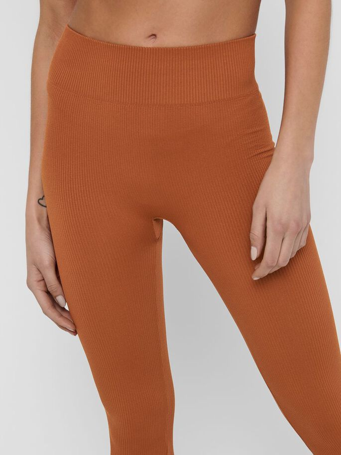 SEAMLESS TIGHTS, Ginger Bread, large