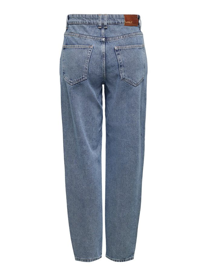 ONLTROY LIFE HW CAROT ANKLE STRAIGHT FIT JEANS, Medium Blue Denim, large