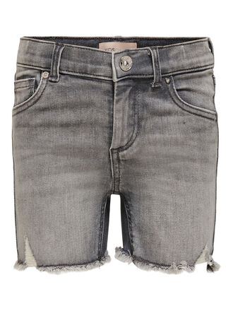 KONBLUSH GREY DESTROY DENIM SHORTS