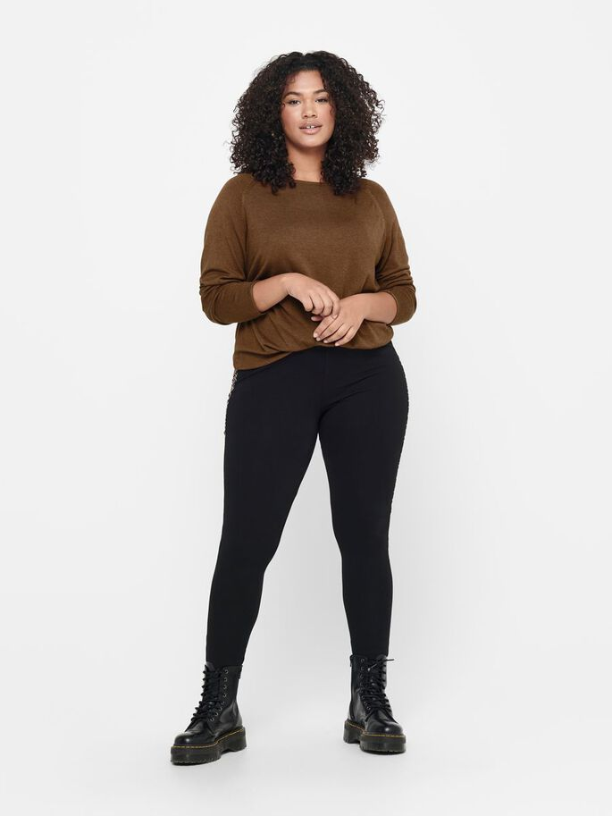 CURVY LEGGINGS, Black, large