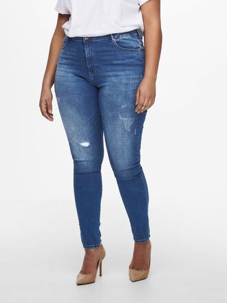 CURVY CARLAOLA LIFE HW DESTROYED SKINNY FIT JEANS