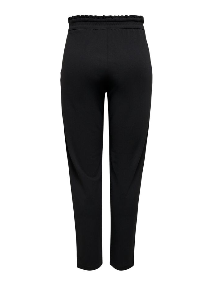 LOOSE FITTED TROUSERS, Black, large