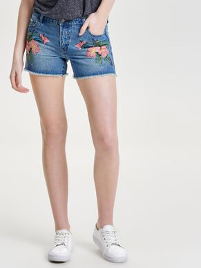 CARMEN EMBROIDERY DENIMSHORTS