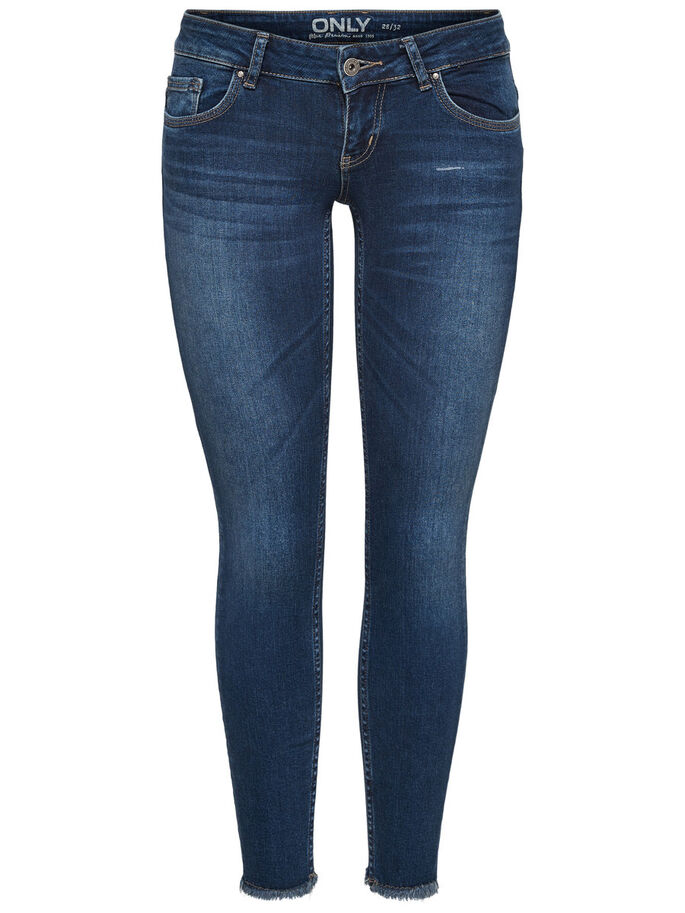 CORAL SUPERLOW ANKEL SKINNY FIT JEANS, Medium Blue Denim, large