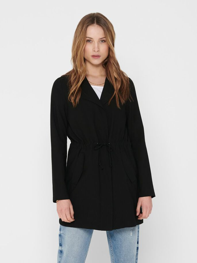 DRAPY JACKET, Black, large