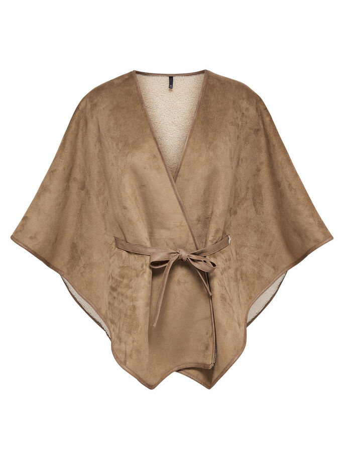 AVEC FINITIONS PONCHO, Camel, large