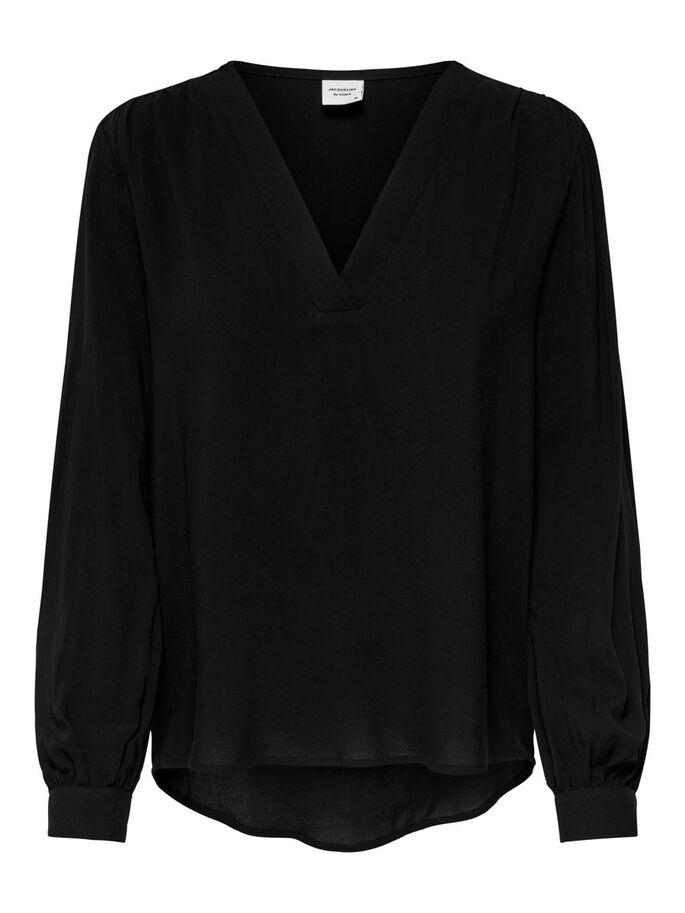 LOOSE FITTED SHIRT, Black, large