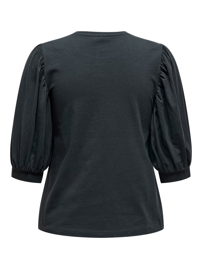 PUFFSLEEVE TOP, Blue Graphite, large