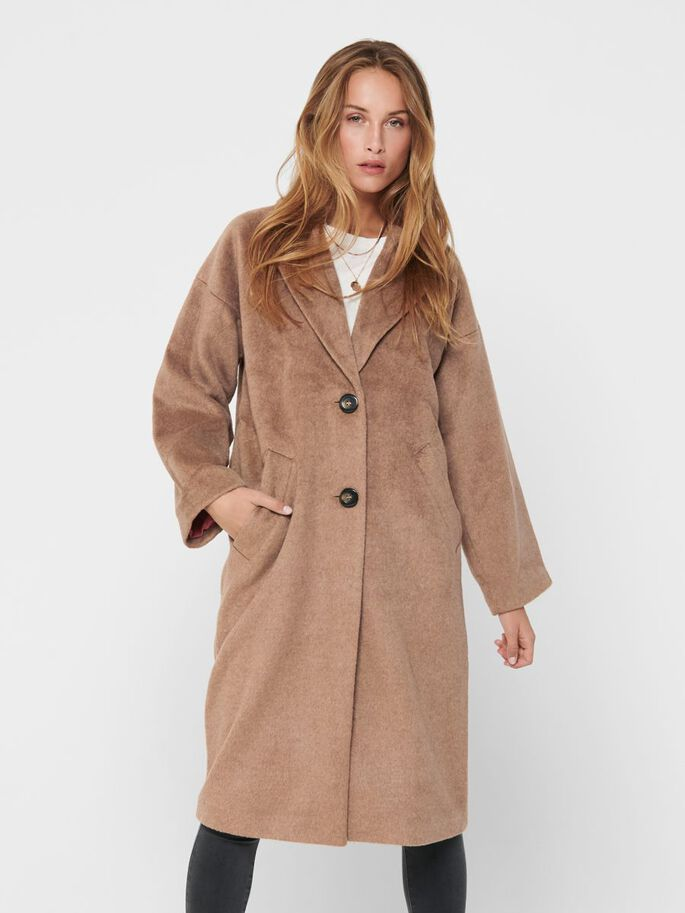 LONG COAT, Toasted Coconut, large
