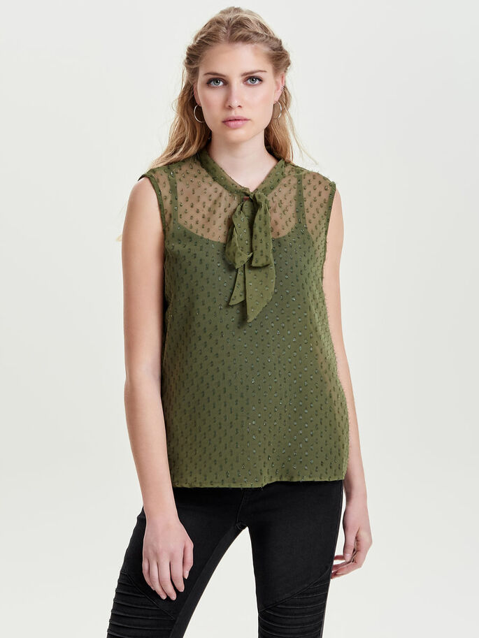 DETAILED SLEEVELESS TOP, Kalamata, large