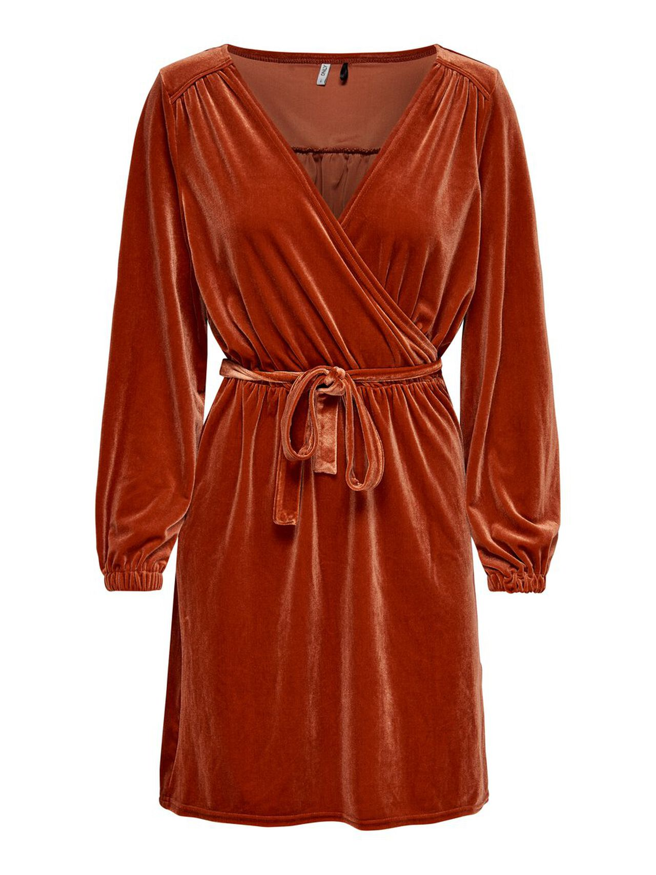 ONLY Long Sleeved Dress Women Brown