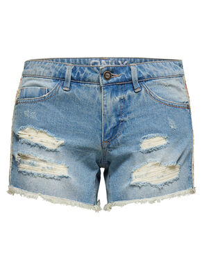 CARRIE LOW DESTROYED JEANSSHORTS