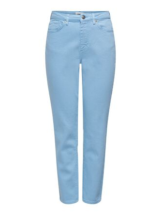 SOLID COLORED MOM TROUSERS