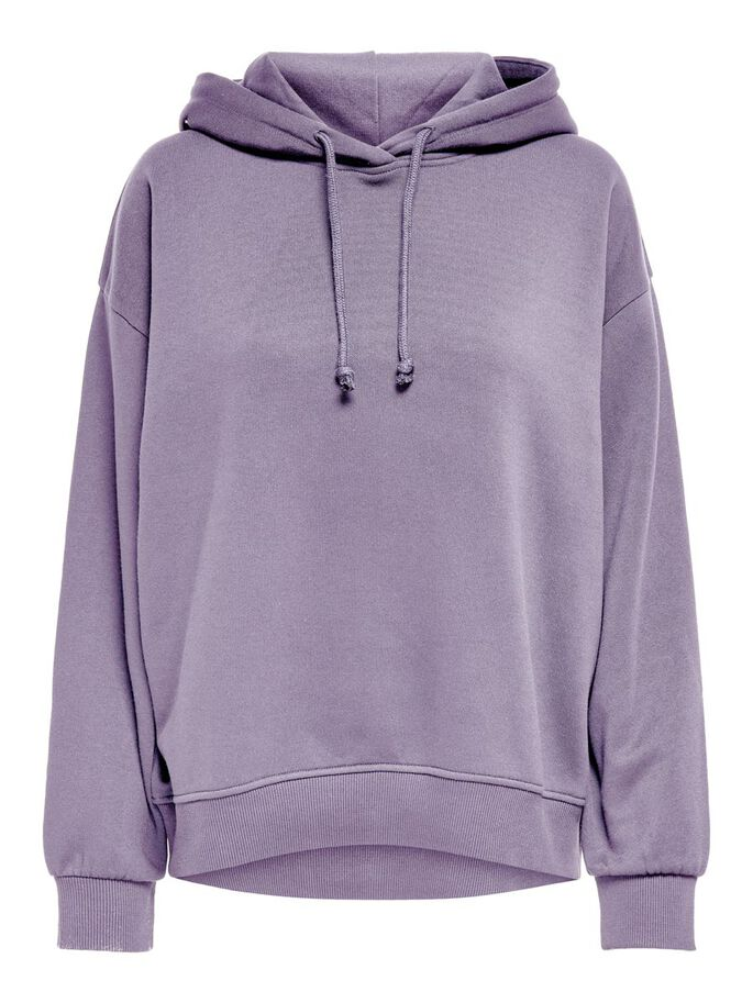 SOLID COLORED HOODIE, Lavender Gray, large