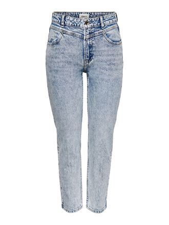ONLEMILY LIFE HW CUT STRAIGHT FIT JEANS