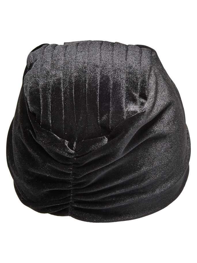 KNITTED BEANIE, Black, large