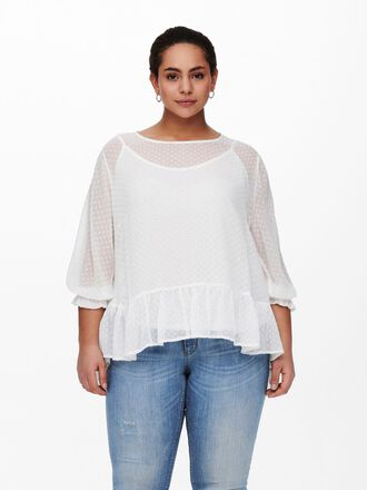 CURVY FRILL DETAIL TOP
